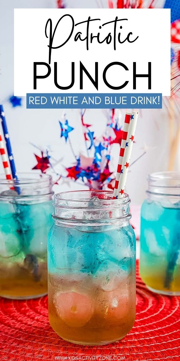 What could be more fun than a layered Red, White and Blue Drink for the 4th of July? This Patriotic Punch is an easy summer drink that's delicious all summer long. Get the tips and tricks to creating this easy mocktail that the kids will love!