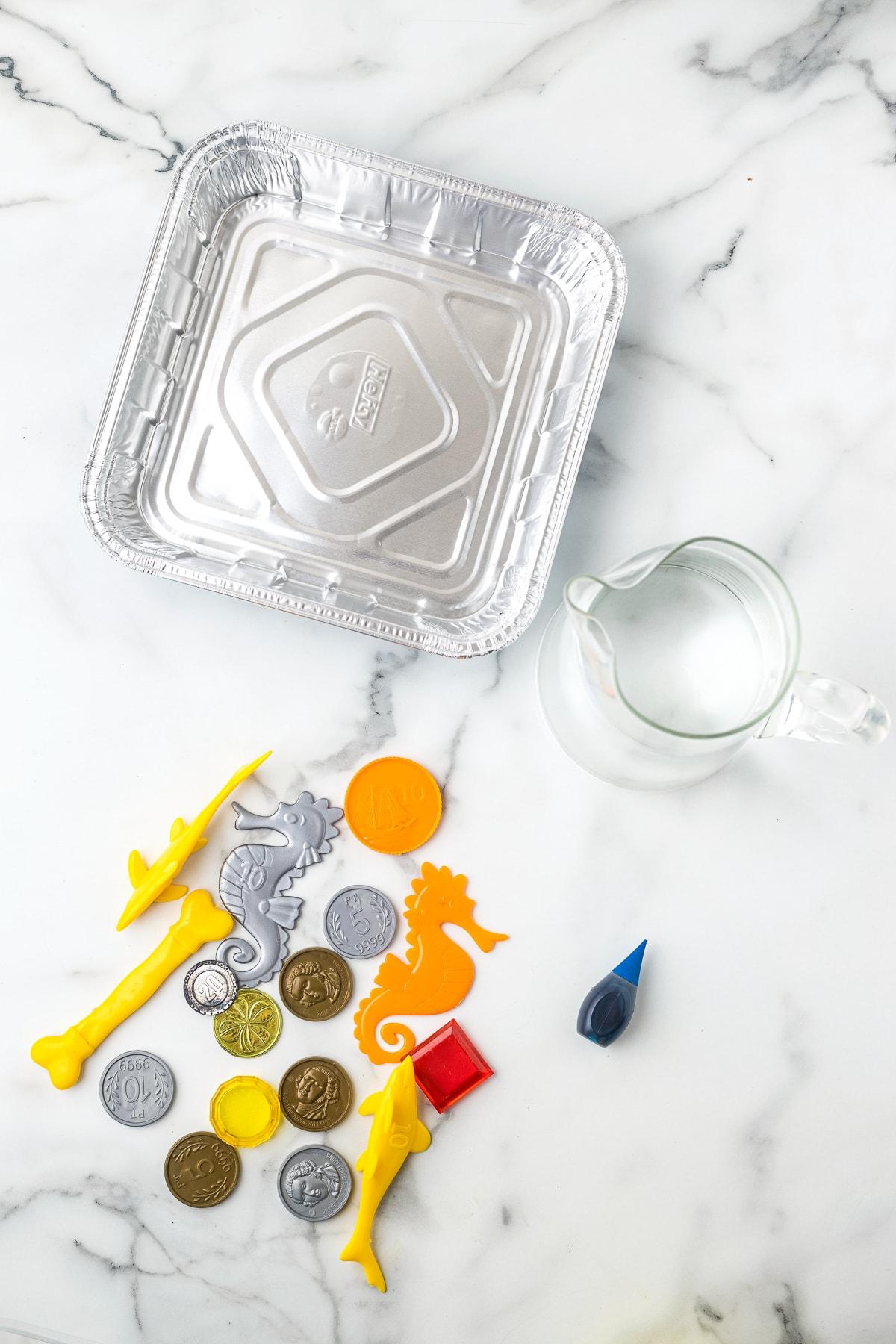 Supplies needed for Ice Block Treasure Hunt