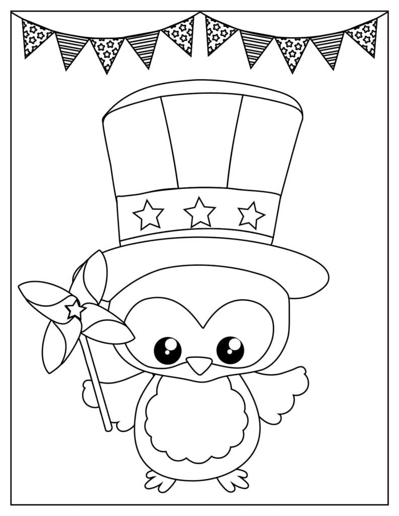 Printable Patriotic Coloring Page