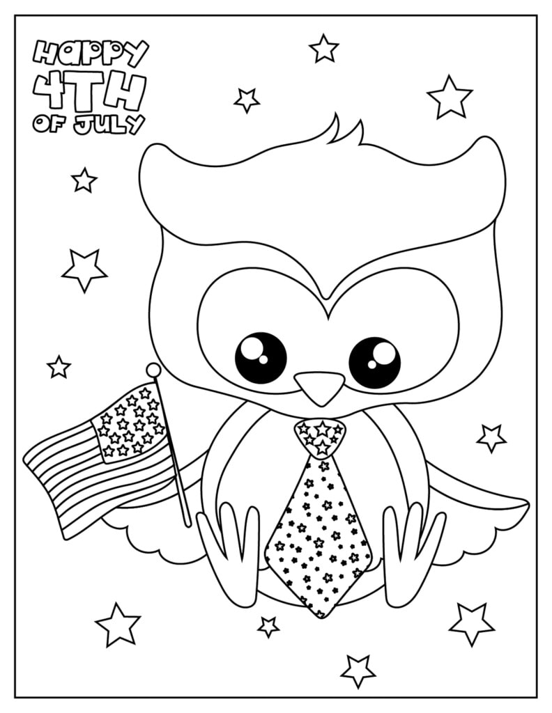 Free 4th of July Coloring PagePage Printable