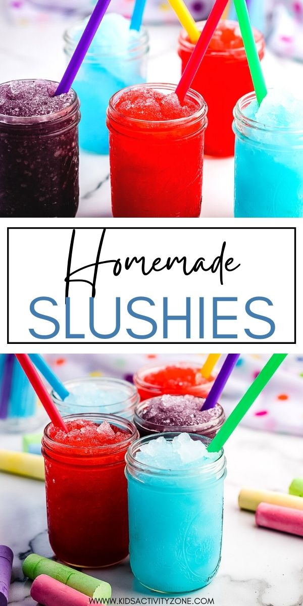 With only three ingredients Homemade Slushies are the perfect treat to cool off with during a hot summer day! Simply blend together Kool-Aid powder, club soda and sugar with ice cubes. It's so fun to create different flavors.