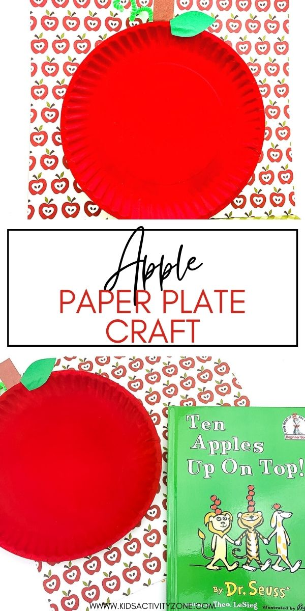 This quick and easy Apple Paper Plate Craft is the perfect activity for preschoolers. It uses supplies that are typically found in your house and turns them into a fun and easy apple craft perfect for fall!