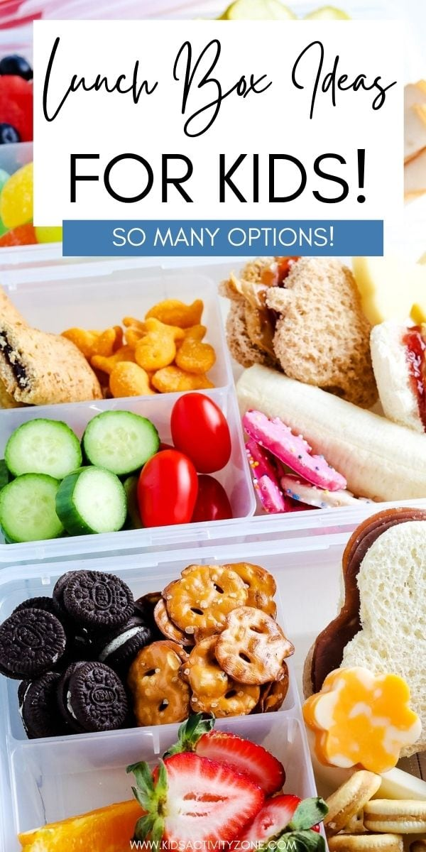 Make those paper bag lunches fun for the kids this year! It's back to school and here are some great Lunch Box Ideas for kids. Tons of different options to mix up lunch with so they never get tired of what's in their lunch box.
