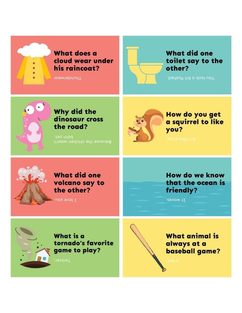 Lunchbox Jokes Collage