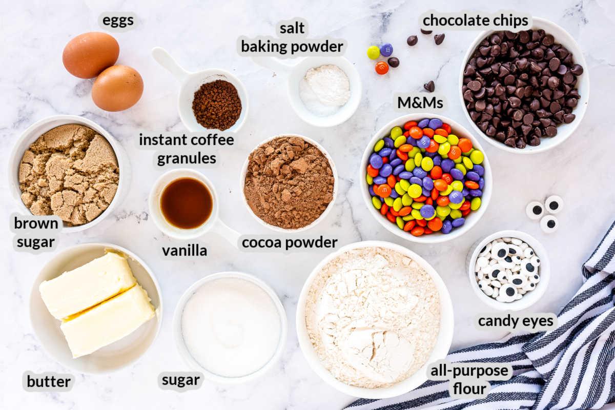 Halloween Cookies Ingredients