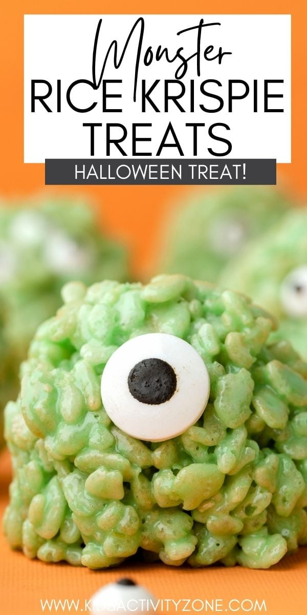 There's nothing than Rice Krispie Treats for an easy kid friendly snack! That's why these Monster Rice Krispie Treats are a hit with the kids for an easy Halloween Snack. Beyond simple to make which means the kids can help!