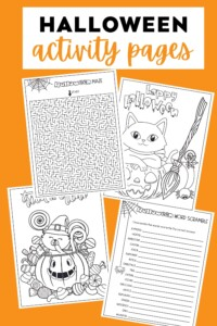 Halloween Activity Pages - Featured Image
