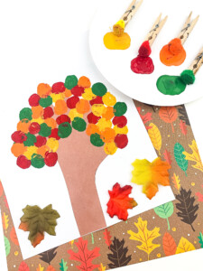 Tree Pom Pom Painting